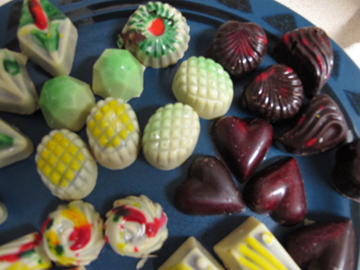 Molded chocolates from class