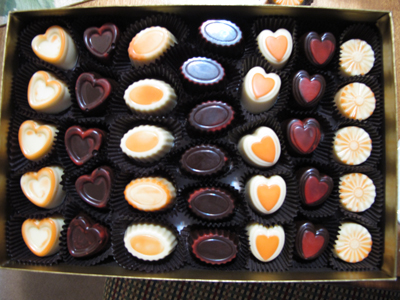 Valentine's Day molded chocolates